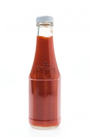 Photo for Sauce bottle isolated on white - Royalty Free Image