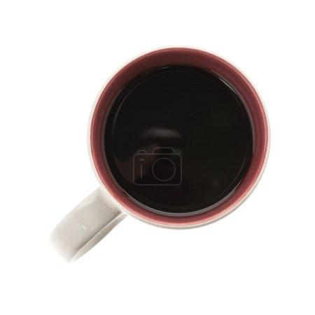 Photo pour Tasse de café noir isolé sur fond blanc - image libre de droit