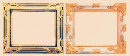 Frame process in vintage style picture