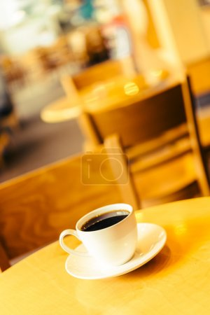 Coffee cup in coffee shop