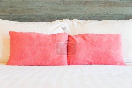 Pillows on bedroom