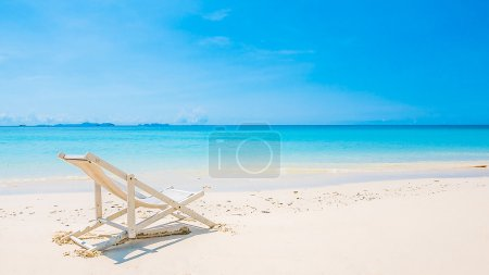 Beach chair on tropical beach