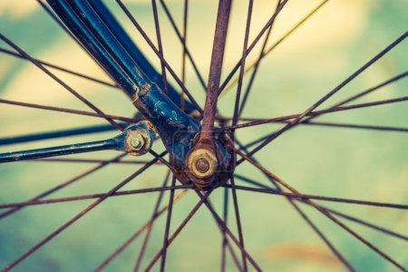 Vintage bicycle wheel