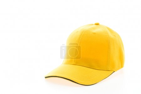 Yellow baseball cap isolated on white