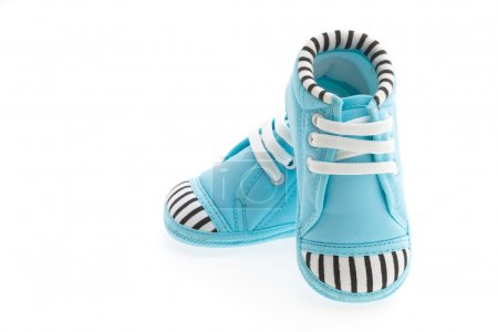Baby shoes on white