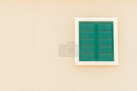 Colorful window on wall
