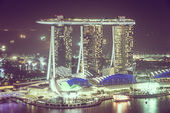 Singapur panorama města