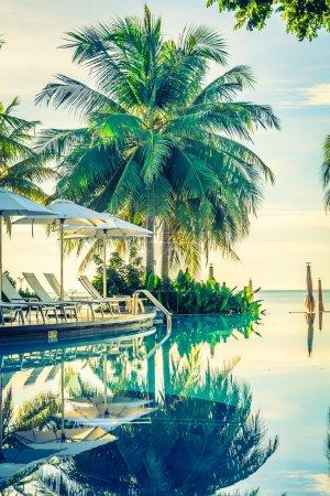 Beautiful luxury hotel pool