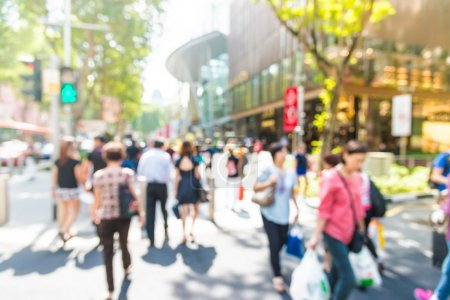 Photo for Blur people in rush hours at orchard road background with sunflare effect filter processing - Royalty Free Image