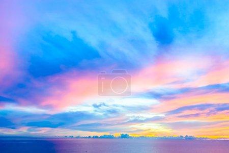 Cloudy sky at twilight