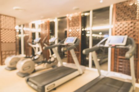 Photo for Abstract blur fitness gym interior background - vintage filter - Royalty Free Image