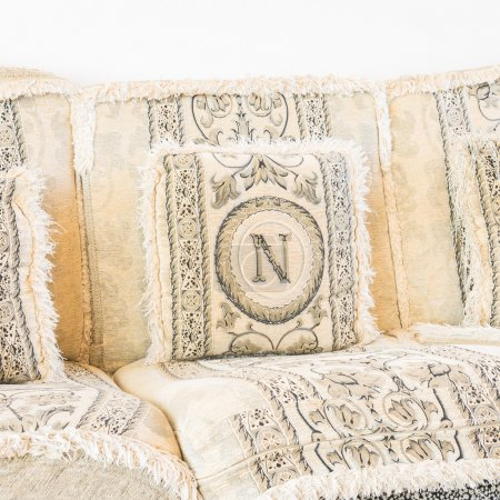 Photo for Classic Sofa pillows decoration in living room interior - Royalty Free Image