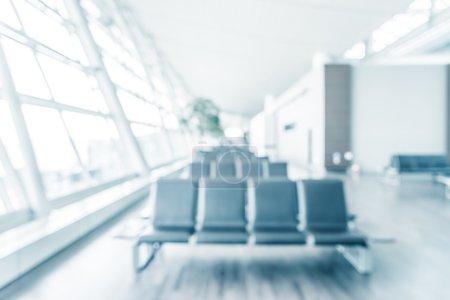 blur airport interior