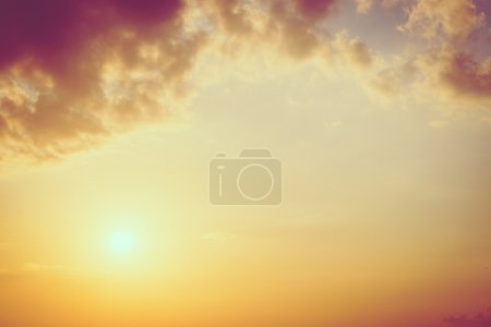 Photo for Beautiful Sunrise and sea on the beach, vintage filter - Royalty Free Image