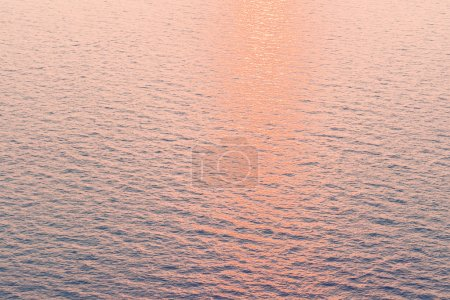 Sunset reflection on sea water