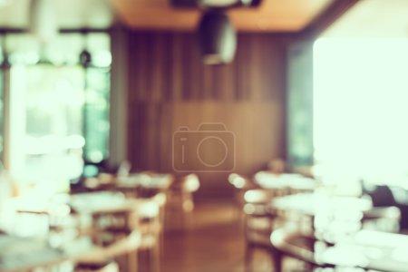 blur restaurant interior
