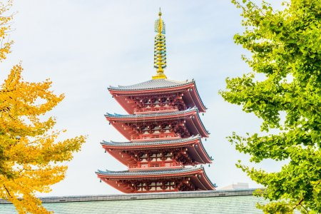 Belle Architecture de Temple Sensoji