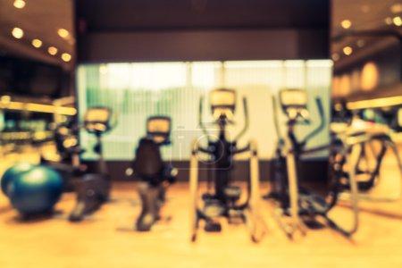 blur fitness gym room interior