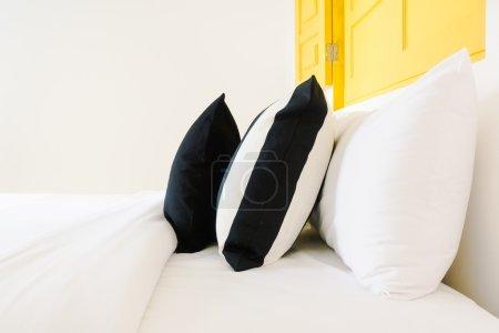 Beautiful luxury pillows on bedroom