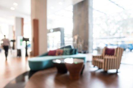 Photo pour Abstrait beau luxe flou intérieur de l'hôtel pour le fond - image libre de droit