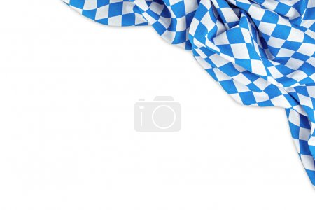 Photo pour Drapeau bavarois isolé sur fond blanc - image libre de droit