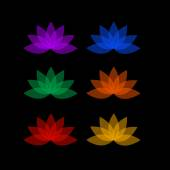 Lotus in different colors- logo for business