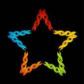 Colorful celtic star- Tattoo or decoration