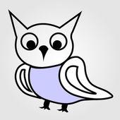 Pretty owl line drawing