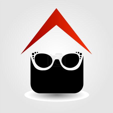 Logo pour magasin de lunettes