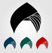 Colorful turbans or headgear