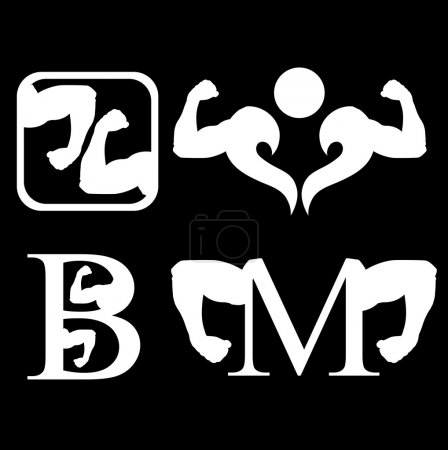 Set of bodybuilding logos