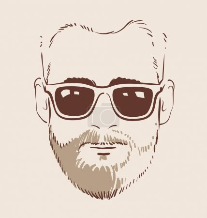 Man in glasses vector illustration