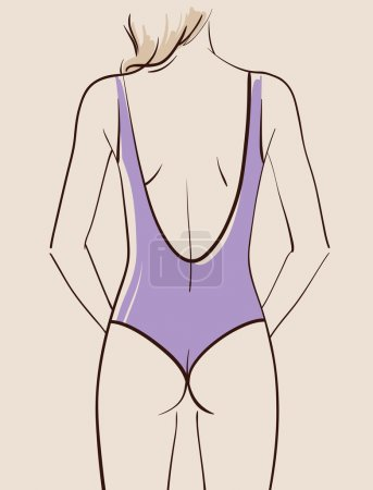 Beautiful woman wearing swimsuit
