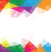 Low poly multicolor background with white space center vector
