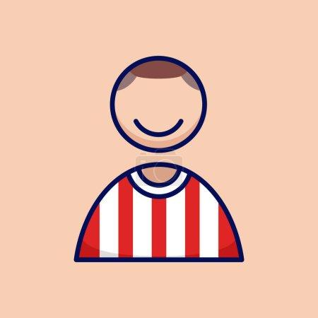 Photo pour Football joueur de football personnes icône simple et minimaliste en dessin animé esquissé style illustration vectorielle graphique - image libre de droit