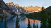 Moraine Lake in the morning light