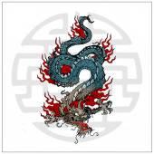 Japanese vector dragon tattoo