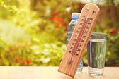 """Постер, картина, фотообои """"Термометр на летний день показаны около 45 градусов"""""""