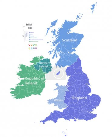 vector map of British Isles