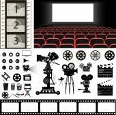 cinema objects vector illustration