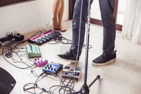 Equipment in  musical studio