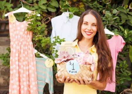 woman selling things