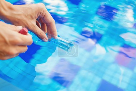 Analyzing of a water from swimming poo