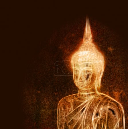 Dessin artistique bouddha
