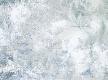Soft blue grey floral pattern - vintage flower background