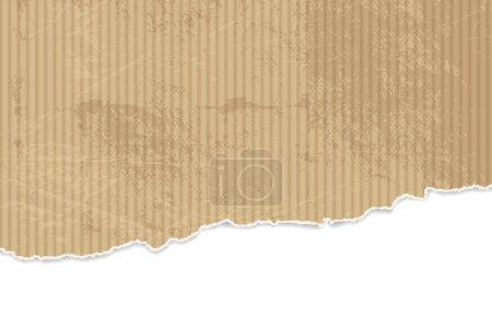 Illustration pour Fond en papier déchiré - texture en carton ondulé avec bords arrachés - image libre de droit