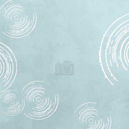 Illustration for Retro background - abstract soft blue circle pattern - Royalty Free Image