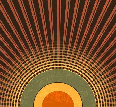 Retro background - abstract grunge radio waves - vintage music pattern