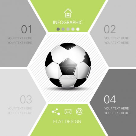 Soccer ball infographic - football