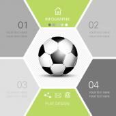 Soccer ball infographic - football